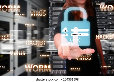 User name and password for security