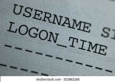 Username Logon