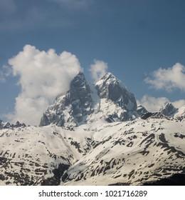 Ushba peak in may
