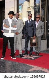 """Usher, Sean Combs, Kenny 'Babyface' Edmonds and Antonio M. 'L.A.' Reid at the Kenny """"Babyface"""" Edmonds Honored Star on the Hollywood Walk Of Fame, Hollywood, CA 10-10-13"""