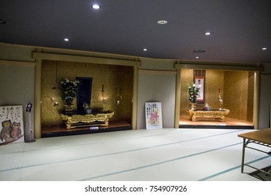 USHIKU, JAPAN - June 29, 2017: Inside the Great Buddha of Ushiku, Japan. One of the tallest statues in the world
