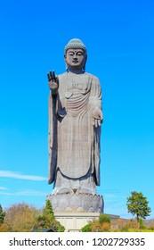Ushiku, Japan - October 10, 2018 : Ushiku Daibutsu  is a statue located in Ushiku, Ibaraki Prefecture, Japan.