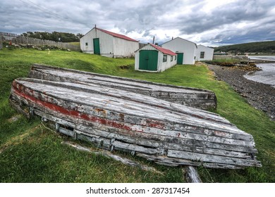 USHUAIA, ARGENTINA - DECEMBER 27, 2014: Estancia Harberton was established in 1886 by missionary Thomas Bridges and is the oldest estancia (farm) in the Argentine sector of Tierra del Fuego