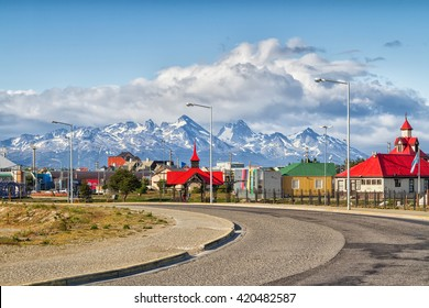 USHUAIA, ARGENTINA - JANUARY 20,,2016:: Ushuaia is the southernmost city in the world located in Tierra del Fuego, Argentina