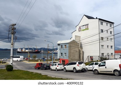 USHUAIA, ARGENTINA - NOVEMBER 17,2014:Ushuaia is the southernmost city in the world.
