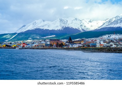 Ushuaia Harbor - Tierra del Fuego, Argentina. Ushuaia is the capital of Tierra del Fuego. It is commonly regarded as the southernmost city in the world.