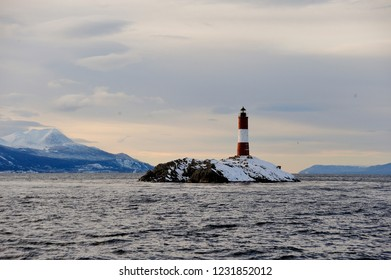 USHUAIA, province of TIERRA DE FUEGO (ARGENTINA), NAVIGATION FOR THE BRIDGES ISLANDS; Les Eclaireurs lighthouse (LIGHTHOUSE OF THE END OF THE WORLD)