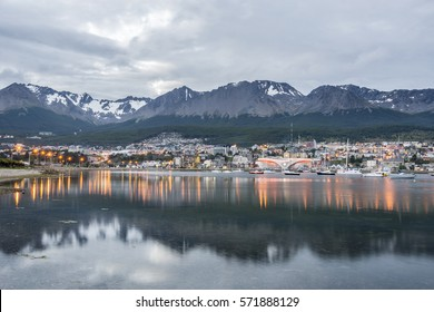 Ushuaia at the sunset, Tierra del Fuego, Argentina, Patagonia