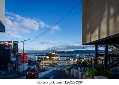 Ushuaia, Tierra del Fuego, Argentina - 03/01/2015: A cityscape from Ushuaia, Tierra del Fuego
