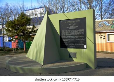 """Ushuaia/Argentina - August 08 2016: Time capsule called """"La capsula del tiempo Philco"""" from 1992 to 2492."""