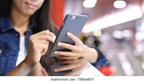 Using cellphone in the station