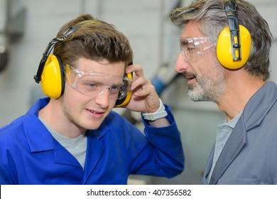 using earmuffs