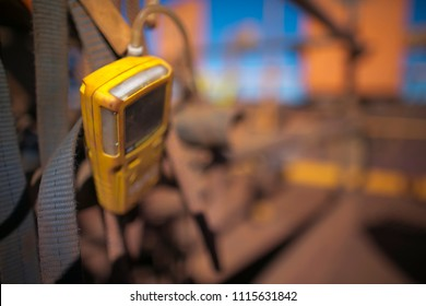 Using gas test detector monitoring at the entry point while rope access welder working as a hot work, welding in side the confined space at construction mine site, Perth, western of Australia