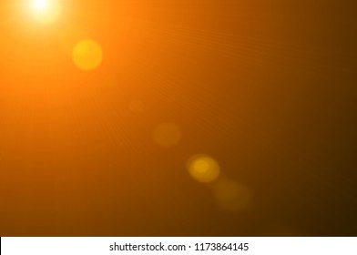 Using lens flare effects for overlay designs or screen blending mode to make high-quality images of warm sunlight isolated on a black background.