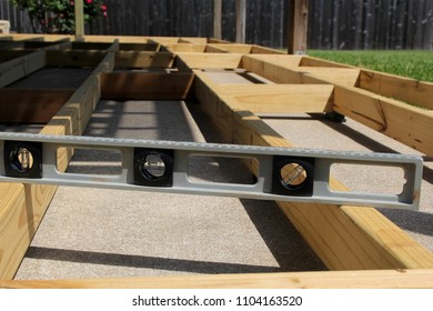 Using a level to build a backyard deck