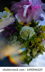 using prism to create special effect over flowers