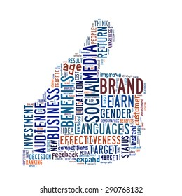Using social media in business conceptual presented in word cloud