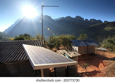 Using solar panels in remote areas.