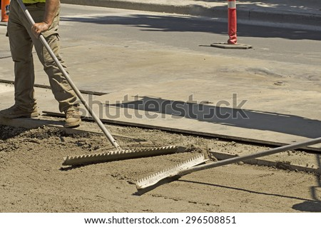 Using Special Contract Slurry Backfill Sanitary Stock Photo (Edit