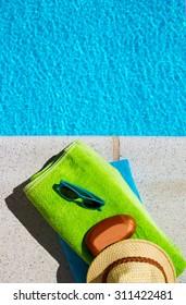 Using sunblock when having a sunbath