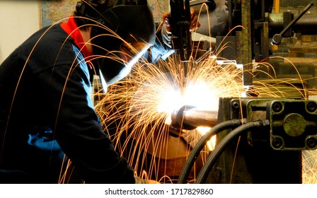 using welding machines used in the metal industry