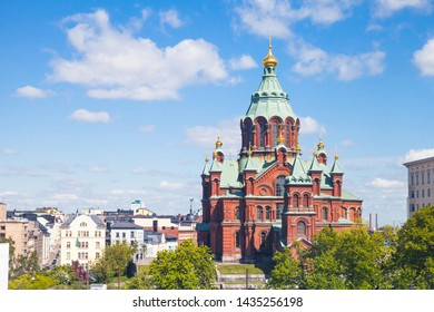 Uspenski Cathedral is an Eastern Orthodox cathedral in Helsinki, Finland, dedicated to the Dormition of the Theotokos, it was built in 1862-1868