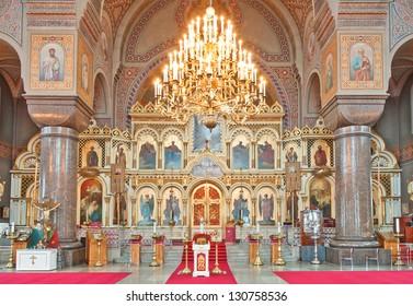 Uspenski Cathedral interior in Helsinki