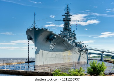 The USS Alabama now a tourist attraction in Battle Ship Memorial Park, Mobile Alabama