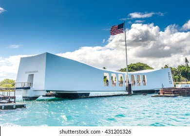 USS Arizona Memorial in Pearl Harbor, April 14 2016 Hawaii USA