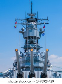 USS Iowa which is now a decommissioned ship