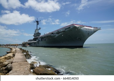 USS Lexington aka The Blue Ghost Essex-class aircraft carrier built during World War II for the United States Navy. Located in Corpus Christi, Texas.