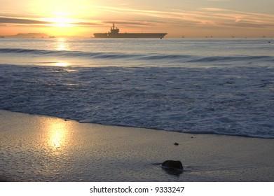U.S.S. Ronald Reagan off the California Coast
