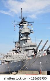 USS Wisconsin Battleship (BB-64) in Norfolk, Virginia, USA