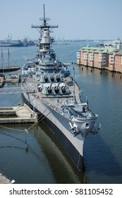 The USS Wisconsin battleship museum at Nauticus in Norfolk, Virginia.
