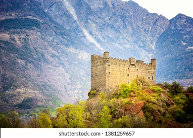 Ussel Castle in Chatillon in Aosta Valley, Italy
