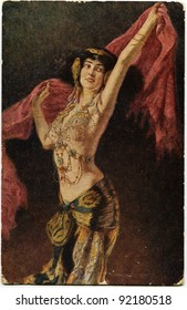USSR - CIRCA 1931: Reproduction of antique postcard shows draw by Leopold Schmutzler  - Dancer, circa 1931