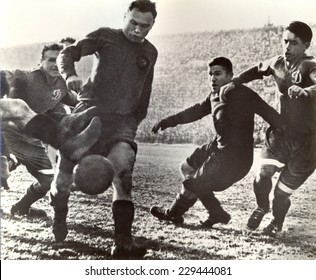 USSR - CIRCA 1938: Vintage photo shows soccer team, 1938
