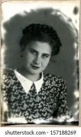 USSR - CIRCA 1952: russian girl, Makhachkala, Dagestan, USSR, 1952