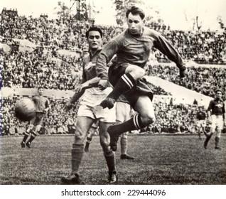 USSR - CIRCA 1954: Vintage photo shows soccer team, 1954