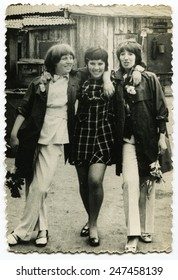 USSR - CIRCA 1960s: An antique photo shows portrait of a three women