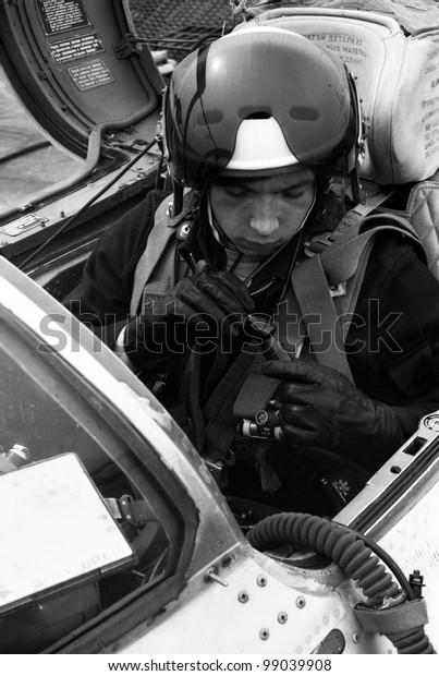 Ussr Circa 1976 Pilot Lieutenant Valerii Stock Photo (Edit