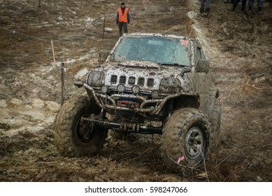 USSURIYSK, RUSSIA - APRIL 16, 2016: Rainforest challenge offroad global series - RFC East Russia race.