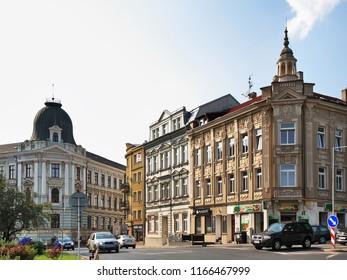USTI NAD LABEM. CZECH REPUBLIC. 13 SEPTEMBER 2016 : View of old district of Usti nad Labem. Czech Republic