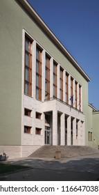 USTI NAD LABEM. CZECH REPUBLIC. 13 SEPTEMBER 2016 : Administrative building in Usti nad Labem. Czech Republic