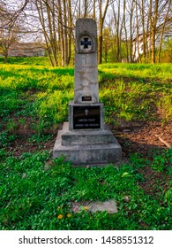 Usti nad Labem / Czech republic - 2018/04/20: A small memorial to the victims of the war. Translation of the sign on the Memorial: To the victims of the war