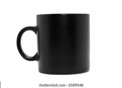 Usual  black office coffee mug isolated on white