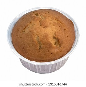 Usual muffin with filling cup of coffee