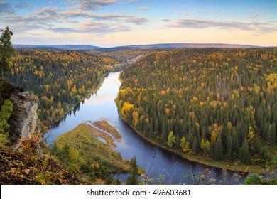 usva river devils finger, russian nature