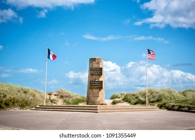 Utah Beach invasion landing memorial, Normandy, France