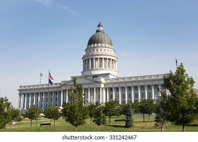 Utah State Capitol building is located in Salt Lake City, Utah, USA.